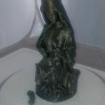 Virgen de Lebanza, reproducción a escala para molde en silicona.